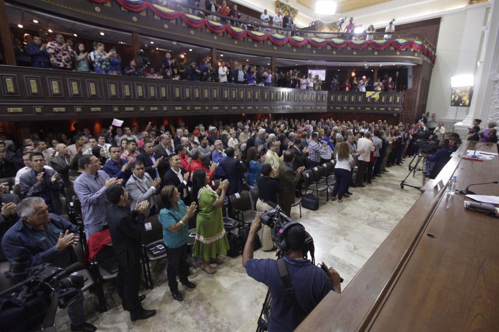 Sesión de la asamblea nacional constituyente, ayer viernes 18 de agosto en Caracas (Venezuela). La Asamblea Nacional Constituyente (ANC) de Venezuela.