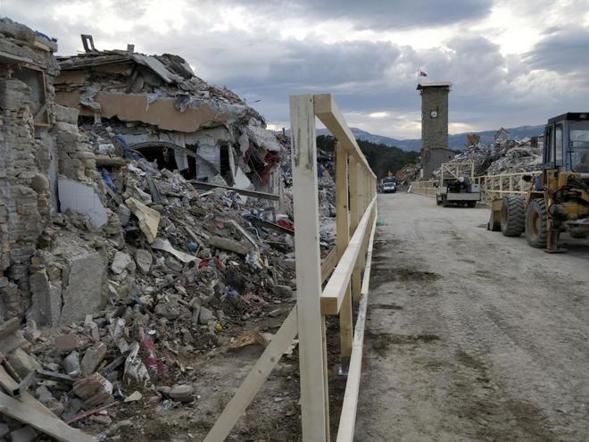 Amatrice, un año después del terremoto.