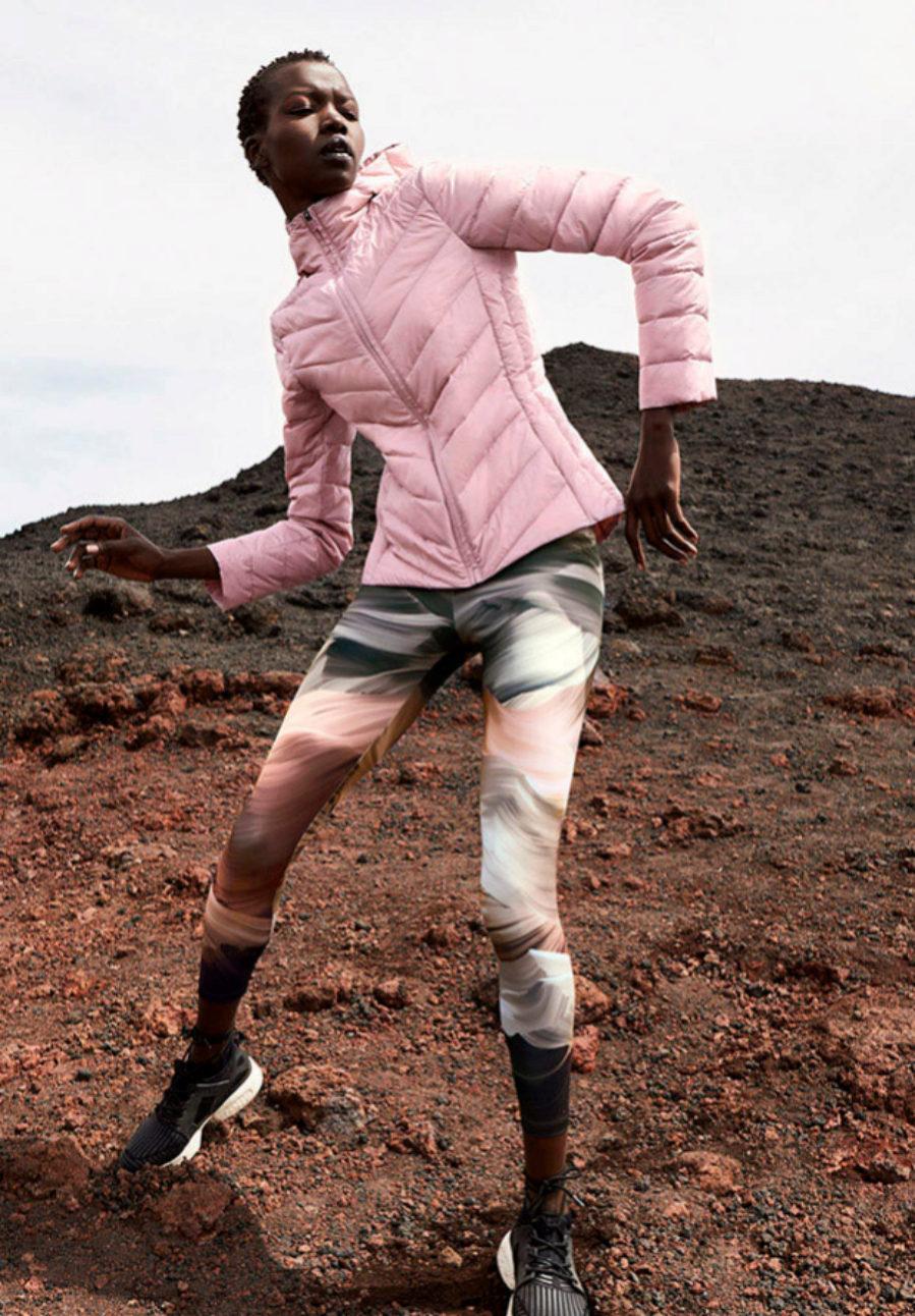 Leggings ultra ligeros con print en tonos rosa y morado (29.99...