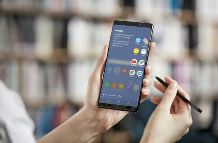 d5166b43e1c La pantalla del Note 8 ocupa el 83% de la superficie total, mientras que en  el S8+ llegaba casi al 84%. ¿El motivo? Hay que meter en algún sitio el S  Pen.