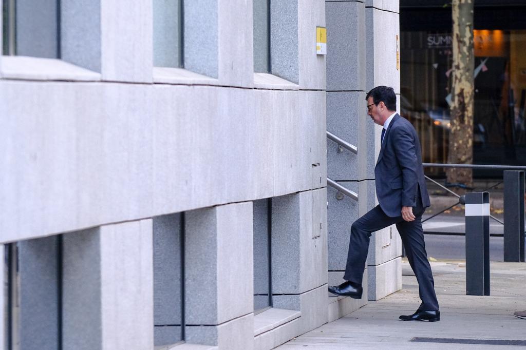 El juez Fernando Andreu entra en la Audiencia Nacional.