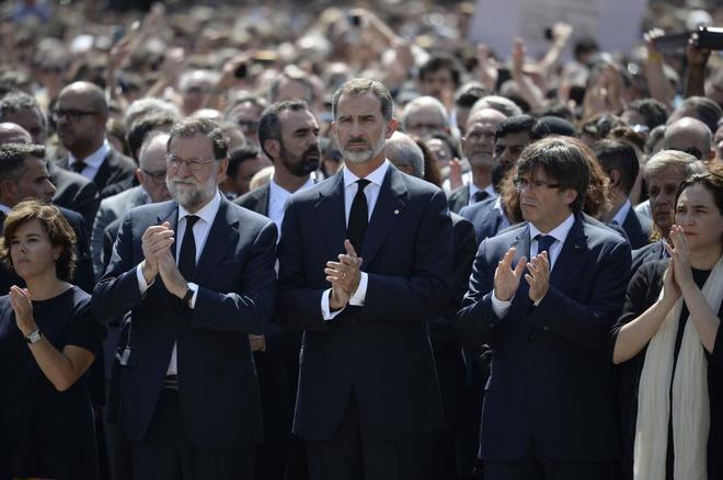 Felipe VI, en la concentraci