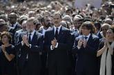 Felipe VI, en la concentración de condena a los atentados de...