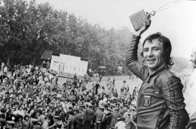 Ángel Nieto bicampeón del mundo, Barcelona 1972.