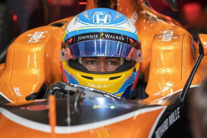Fernando Alonso, durante el pasado GP de Bélgica.