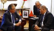Juan Ignacio Zoido, durante el encuentro en Rabat con su homólogo...
