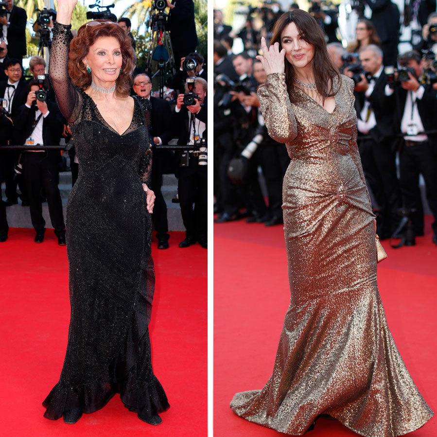 Ambas están acostumbradas a posar con naturalidad en la alfombra roja...
