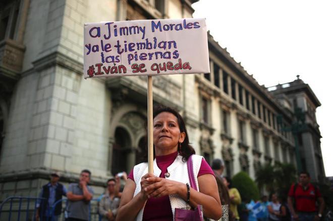 Protestas en Ciudad de Guatemala contra Morales.
