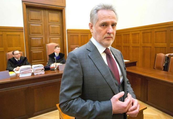 Firtash durante su declaración ante un tribunal austriaco que ha...