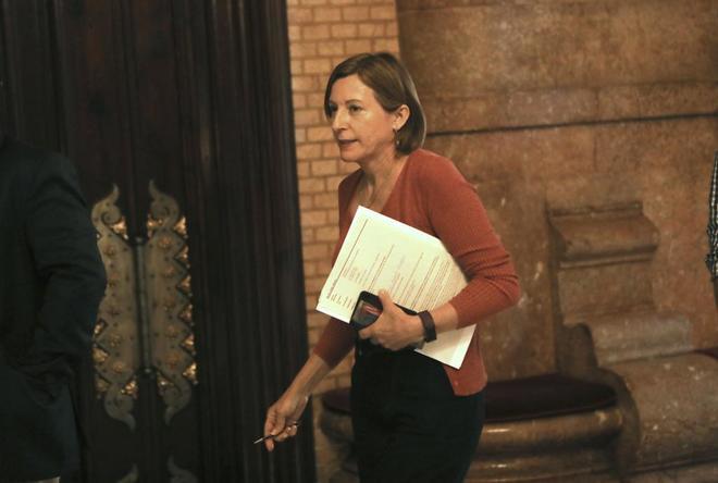La presidenta del Parlament, Carme Forcadell, en el Parlament