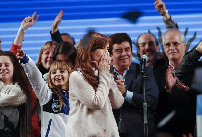 La ex presidenta argentina Cristina Fernández de Kirchner, candidata a senadora por Unidad Ciudadana.
