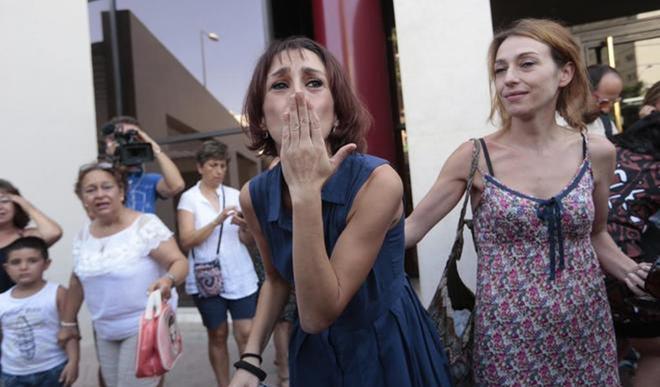Juana Rivas, tras entregar a sus hijos a la Guardia Civil el pasado lunes.