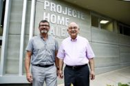 El presidente ejecutivo de Proyecto Hombre, Jesús Mullor, y el presidente de las fundaciones, Bartomeu Català.