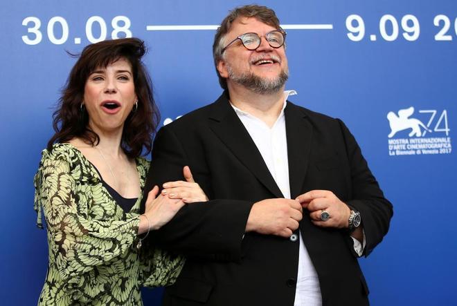 Guillermo del Toro y la actriz Sally Hawkins.