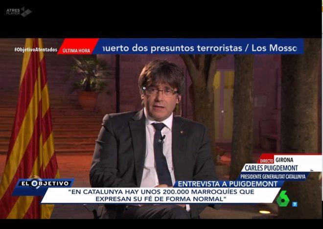 Ana Pastor entrevista a Carles Puigdemont el 20 de agosto.