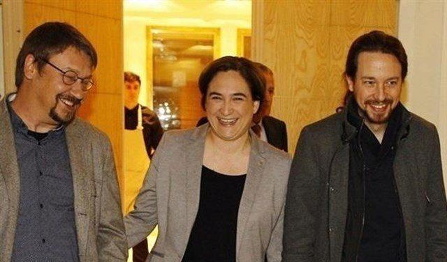 Xavier Domènech, Ada Colau y Pablo Iglesias participará juntos en un acto de la Diada en Santa Coloma de Gramanet