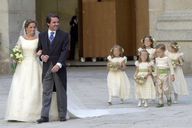 Ana Aznar con su padre, José María Aznar.