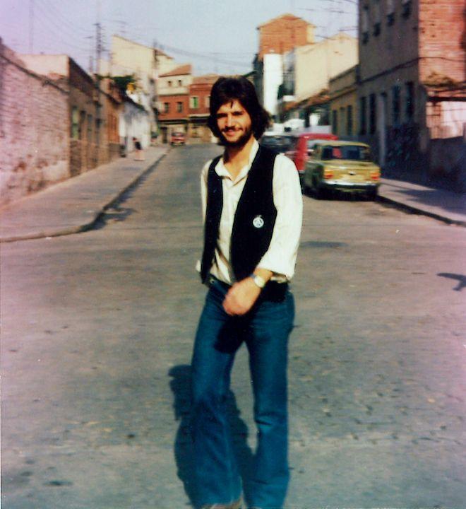 Vicente Cuervo Calvo durante el verano de 1979, pocos meses antes de...