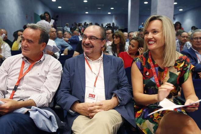 Javier Lambán, junto al presidente de la Diputación de Zaragoza,...