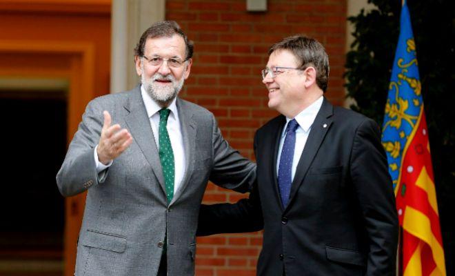 Mariano Rajoy y Ximo Puig, en un encuentro en La Moncloa en noviembre de 2015.