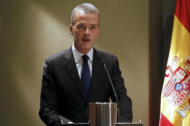 Antonio Camacho en diciembre de 2011, cuando era ministro del Interior...