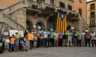 Concentración en contra de los atentados de Cataluña protagonizada...