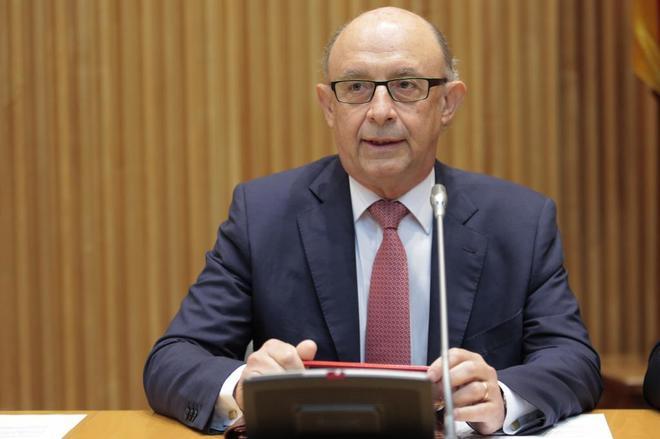 Cristóbal Montoro, durante una comparecencia en la Comisión de...