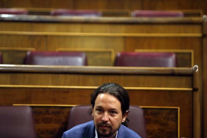 Pablo Iglesias, la pasada semana en el Congreso de los Diputados.