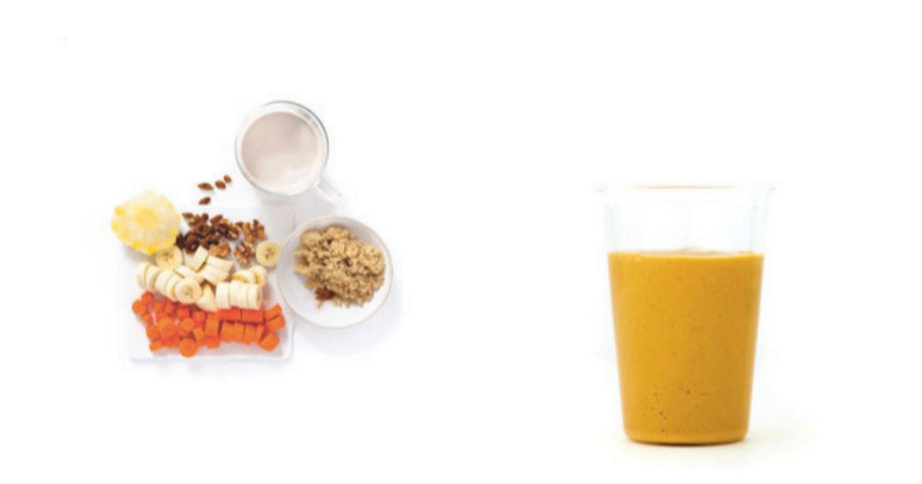 Receta de smoothie de pltano y quinoa Vidasanaestiloygastro