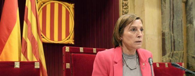 Carme Forcadell, presidenta del Parlament de Cataluña, durante el...