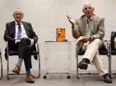 Josep Piqué y Josep Borrell, este miércoles en la presentación del...