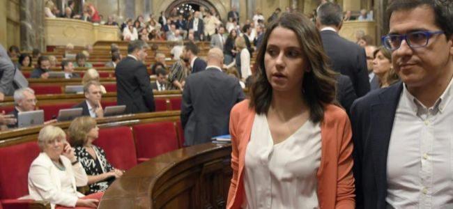Los diputados de Ciudadanos en el Parlament Inés Arrimadas y José...