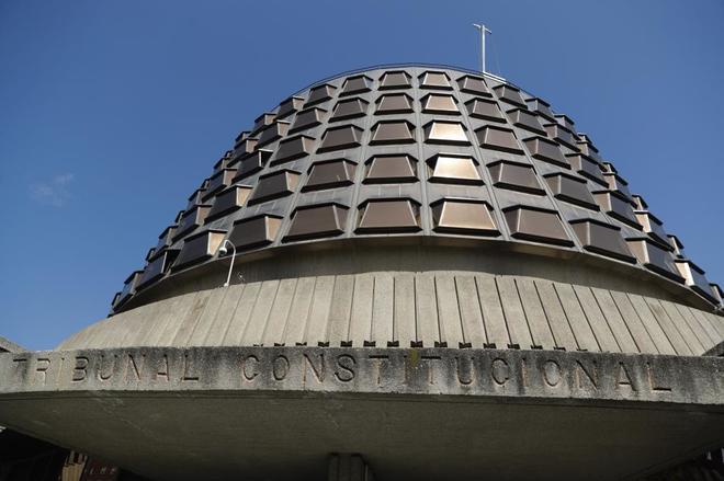 Vista del exterior del edificio del Tribunal Constitucional, en...