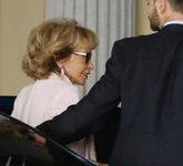 María Teresa Fernández de la Vega, a su llegada ayer al Consejo de...