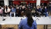 Pablo Iglesias, durante una reunión de la Asamblea Ciudadana de...