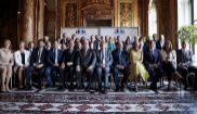 Albert Rivera (3º por la dcha.) participa en Bruselas en el Summit de...