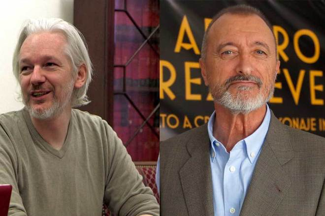 Julian Assange y Arturo Pérez-Reverte.