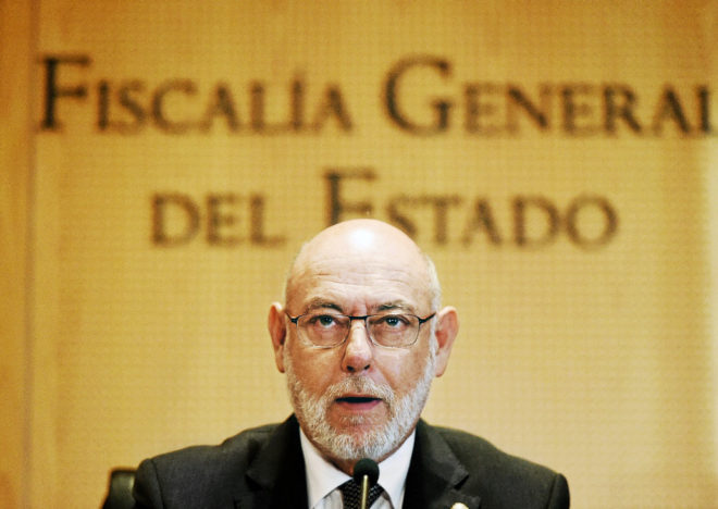 El fiscal general, José Manuel Maza, en una comparecencia el pasado 7 de septiembre.