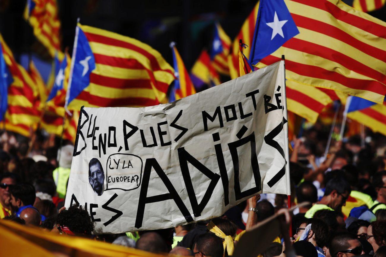 Pancartas satíricas atacan a Mariano Rajoy.