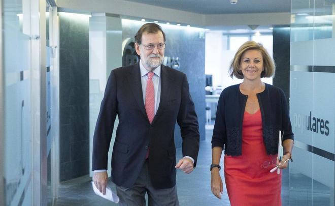 Comité de dirección del PP presidido por Mariano Rajoy junto a...