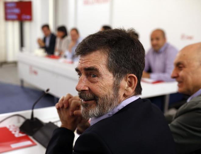 El histórico socialista José Antonio Serrano, en 2016, como miembro...