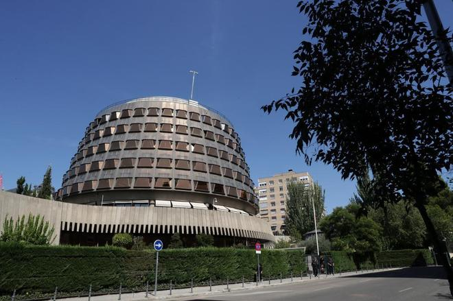 Vista del edificio que alberga la sede del Tribunal Constitucional, en...