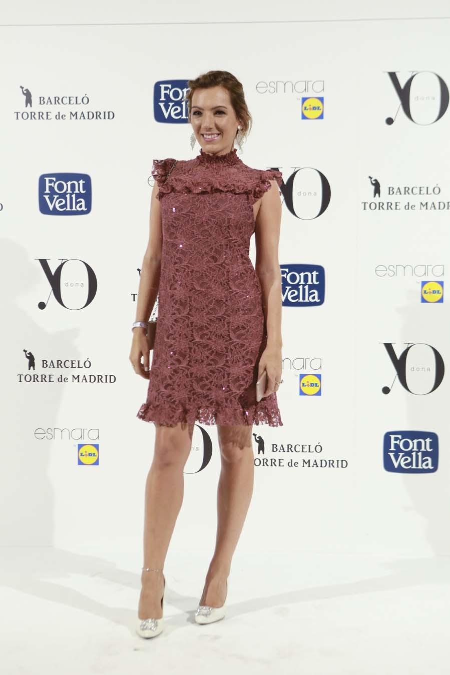 La bloguera, con vestido de Almatrichi y zapatos de Di Dom.