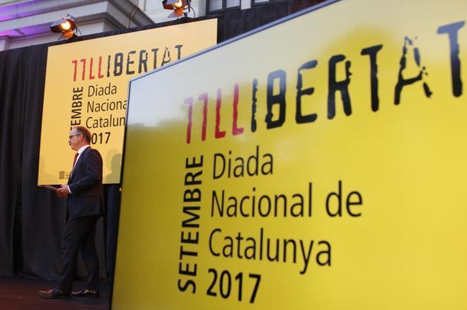 Jordi Turull, portavoz del Gobierno catalán, ayer, en un acto de...