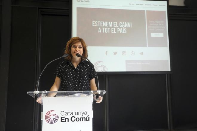 La portavoz de los 'comuns', Elisenda Alamany, en una imagen de archivo