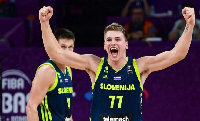 Luka Doncic, durante la semifinal del Eurobasket frente a España.
