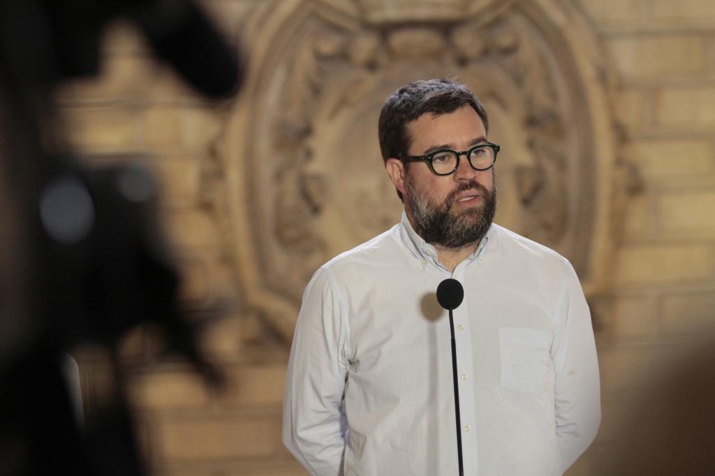 El alcalde de Palma durante un acto institucional.