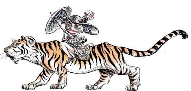 Pasear a lomos de tigre