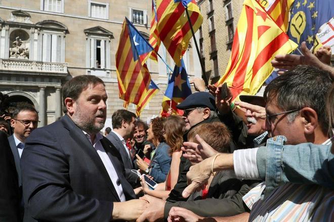 El vicepresidente del Gover, Oriol Junqueras, ayer en Barcelona.