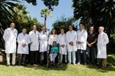 Parte de los integrantes de la Internacional Medicine Academy que...